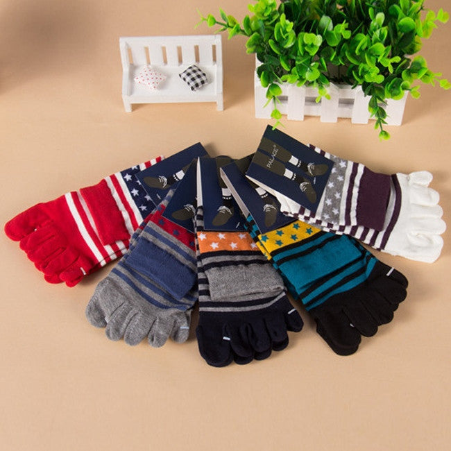 Wiggle Socks 1 Pair Five Finger Toe Shoes Hot sale Men's Socks Pure Cotton Sports Five Finger Socks Toe Socks - Cerkos  - 1