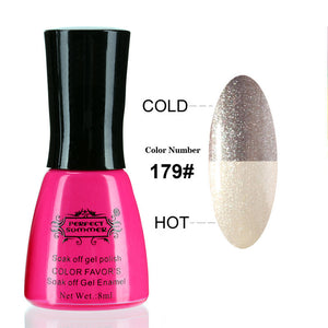 Nail Gel Polish Temperature Change Nail Color UV Gel Polish 10ml 1pcs Nail Gel for Nail soak off gel polish - Cerkos  - 5