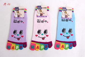 Wiggle Sock Fashion Five toe sock women Sweet Girl type (Hello Kitty cat / Bear / Striped / Surprise / leopard cat ) short socks - Cerkos  - 17