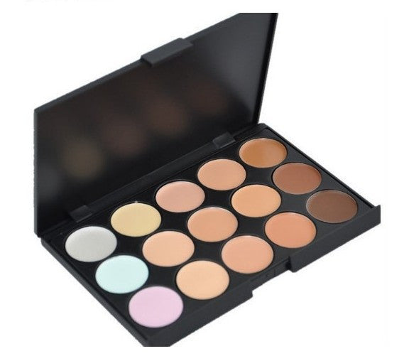 Special Professional 15 Color Concealer 15 colors Facial Face Cream Care Camouflage Makeup base Palettes set Cosmetic - Cerkos  - 2