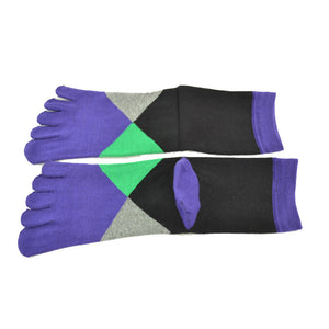 Stylish New 2015 1 Pair Women Middle Tube Sports Running Cotton Five Finger Toe Socks For lady