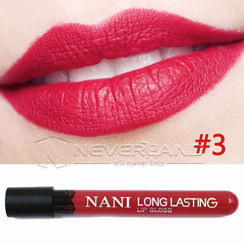 Hot Sale Waterproof Elegant Daily Color Lipstick matte smooth lip stick lipgloss Long Lasting Sweet girl Lip Makeup C10 - Cerkos  - 6