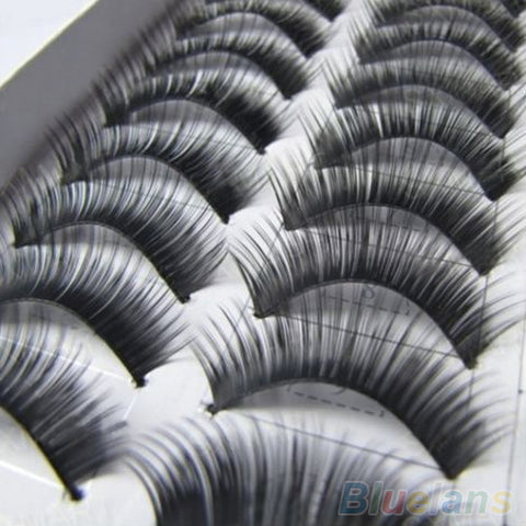 10 Pairs Makeup Handmade Natural Thick False Eyelashes Long Eye Lashes Extension - Cerkos.com