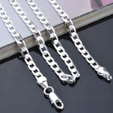 fashion noble Plated silver women men 4mm snake style silver Necklace jewelry can for pendant - Cerkos  - 2