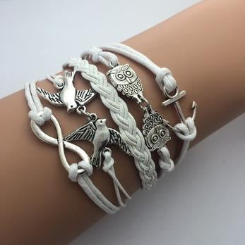 Cerkos.com: Fashion jewelry leather Double infinite multilayer bracelet - Cerkos.com