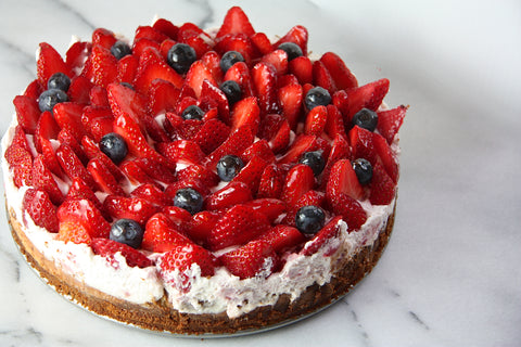 Vanilla Bean Cheesecake, berry cheesecake
