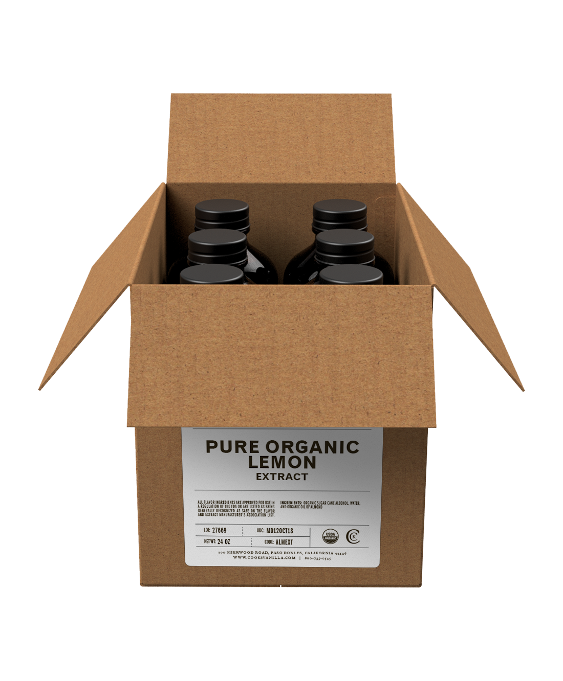 Flavoring | Organic Lemon Extract (Pure) | Packs and Cases