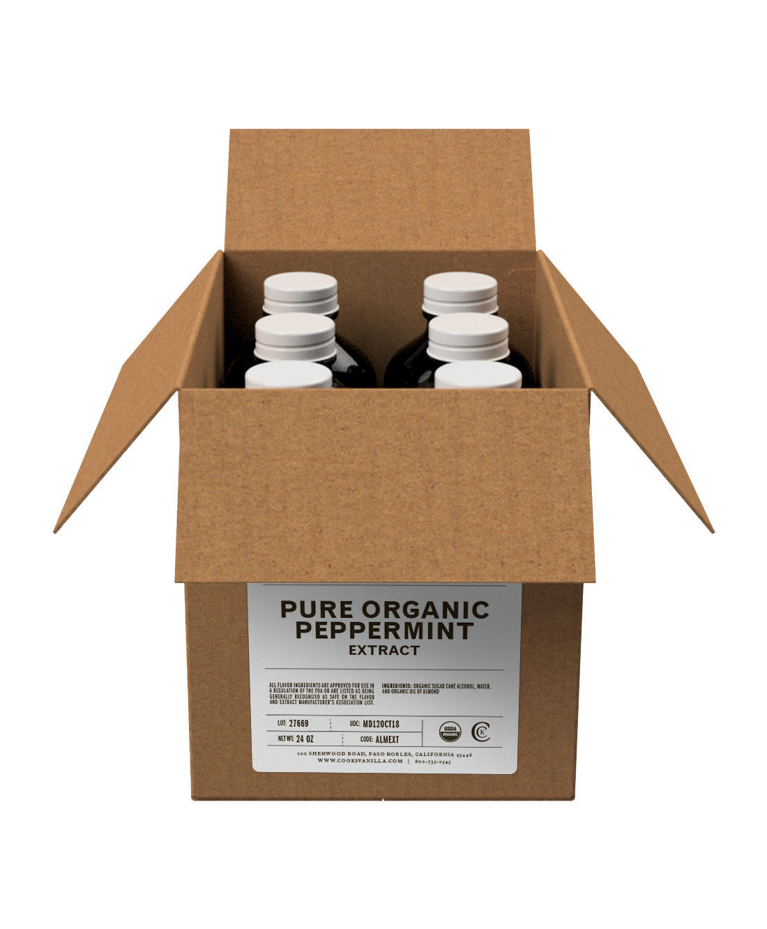 Flavoring | Organic Peppermint Extract (Pure) | Packs and Cases