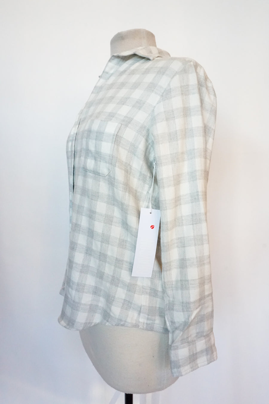 Grayson - Gray Gingham Flannel