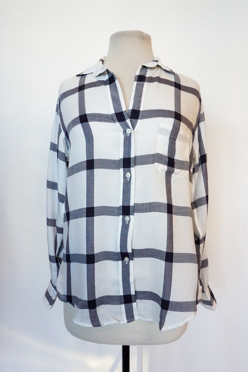 Grayson - White & Black Gingham