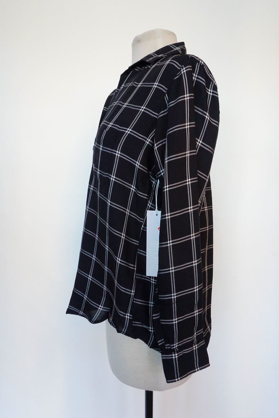 Grayson - Black and White Plaid
