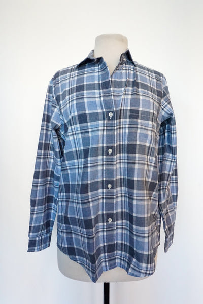 Grayson - Blue and White Plaid Flannel