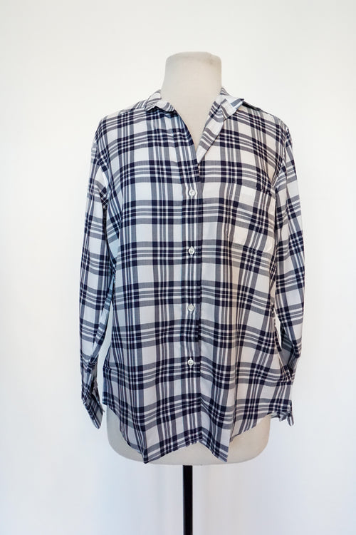 Grayson - Navy Blue Plaid