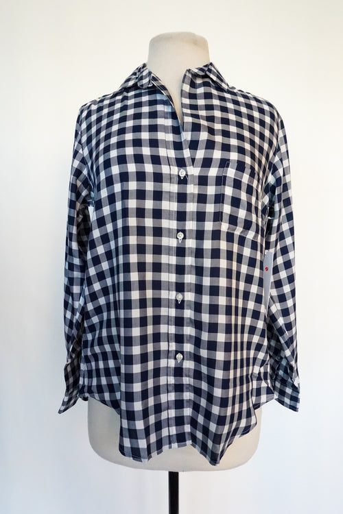 Grayson - Navy and White Buffalo Plaid