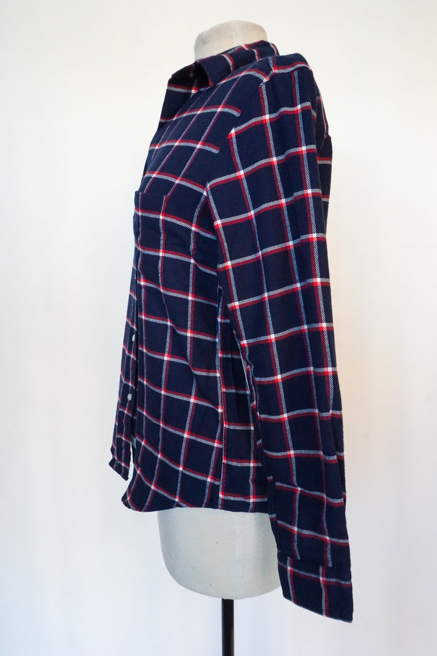 Grayson - Blue With White and Red Tartan