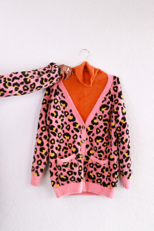 For Love & Lemons - Marielle Leopard Cardigan - S