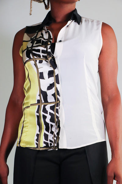Barbara Bui - Sleeveless Silk Printed Top - 38
