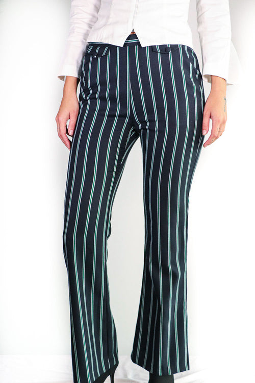 BCBG - Navy Striped Trousers - 6
