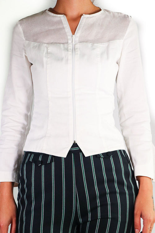 Anne Fontaine - Sheer Zip Up Jacket - 38