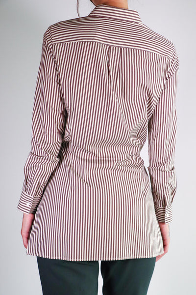 3.1 Phillip Lim - Tie Front Stripped Shirt - 0