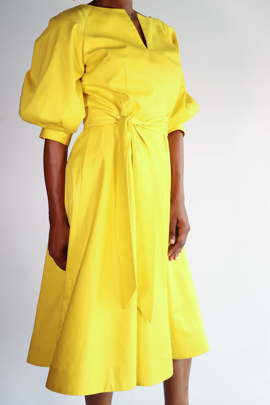 Barbara tFrank - Yellow A Line Dress - 22