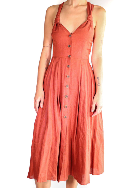 Fame & Partners - Rust Button Down Dress - 4