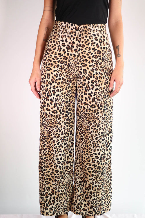 Shades of Blonde - Leopard Print Pants - XS