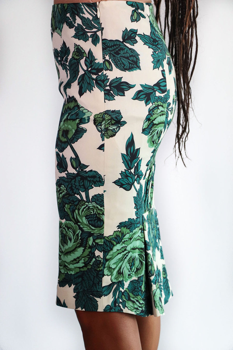 Karen Millen - Green Floral Pencil Skirt - 4