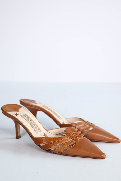 Jimmy Choo - Tobacco Mule - 5