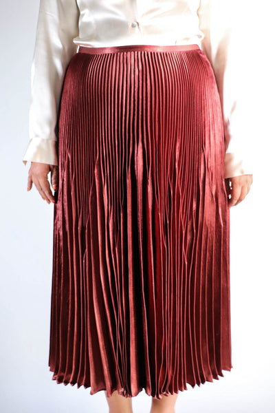 Vince. - Pleated Midi Skirt -12