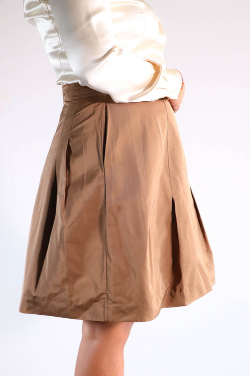 Marni - Brown Flare Skirt - 44