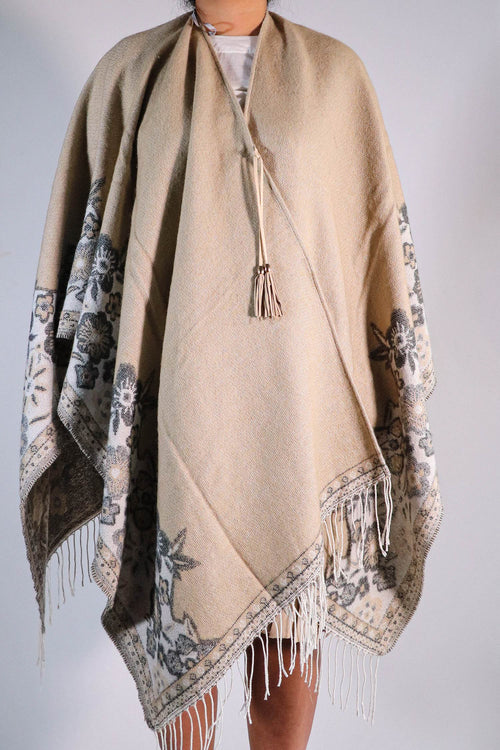 Marc New York -  Tan Poncho - One Size