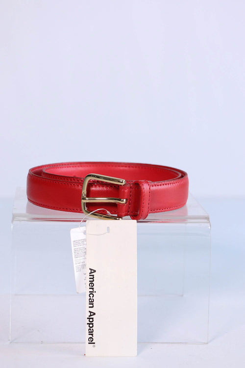 American Apparel - Red Leather Belt - XXS