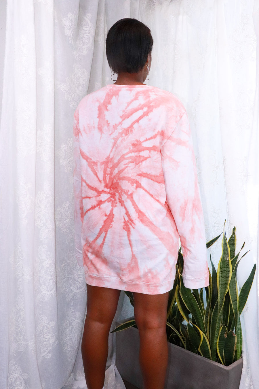 Nasty Gal - My Ride or Tie Dye Sweatshirt Dress