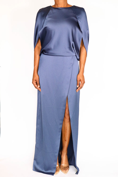 Halston Heritage - Cape Sleeve Gown - 4