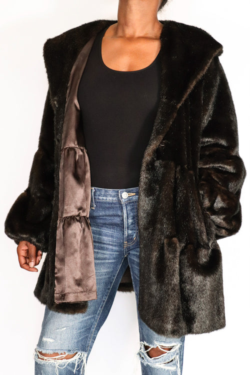 Jones New York - Faux Fur Jacket - L