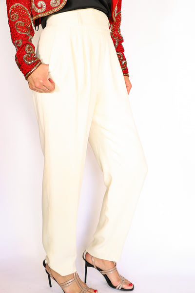Escada - Vintage Cream Pants - 40