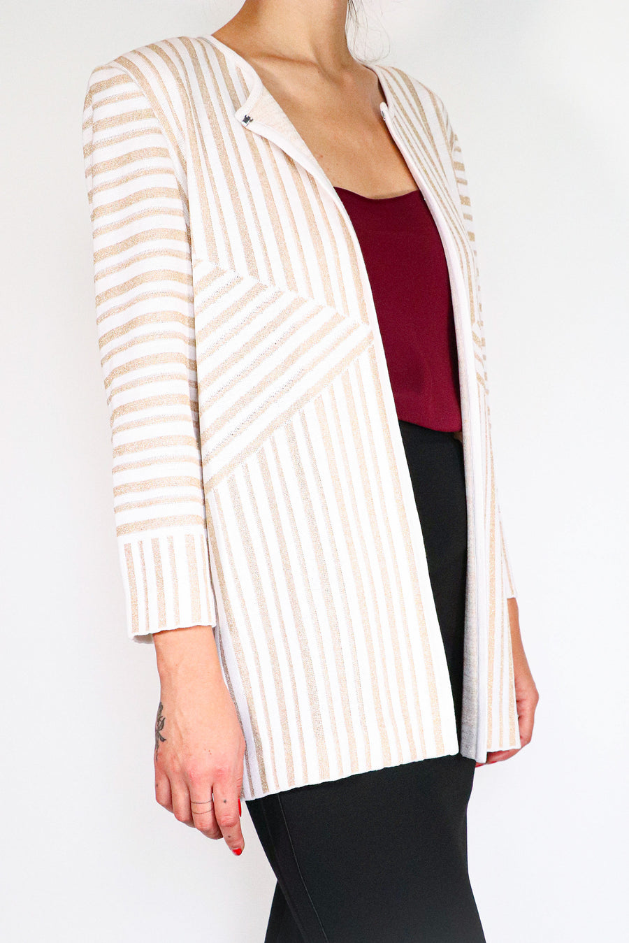 Misook - Sparkle Stripe Jacket - M