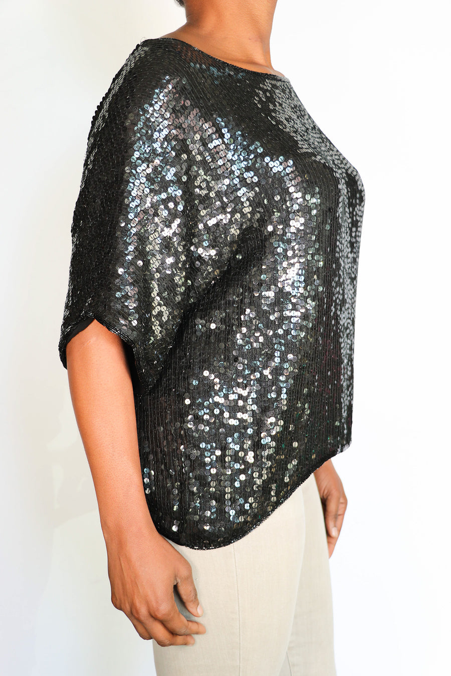 Vintage Candlelight - Sequin Top - XL