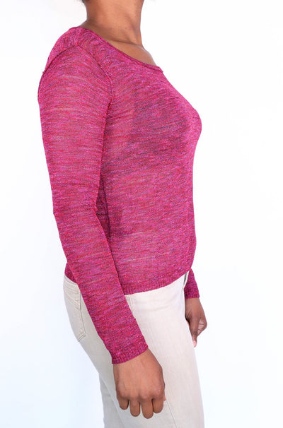 Rag & Bone -Raspberry Sheer Sweater - XS