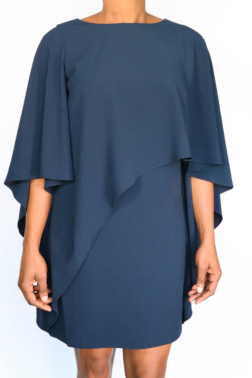 Halston Heritage - Flowy Asymmetric Drape Dress - 6
