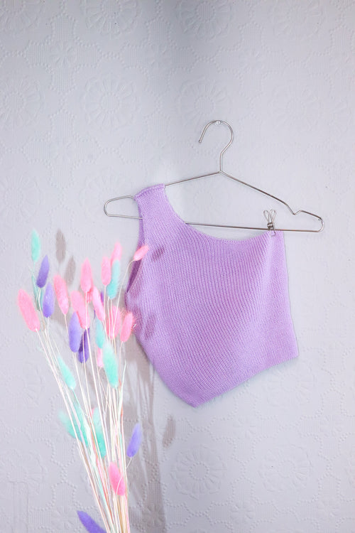 Nasty Gal - Knit Lavender Set - S