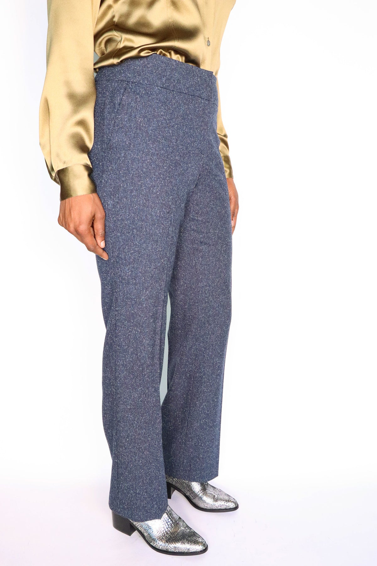 Blue Pleated Trousers - 8