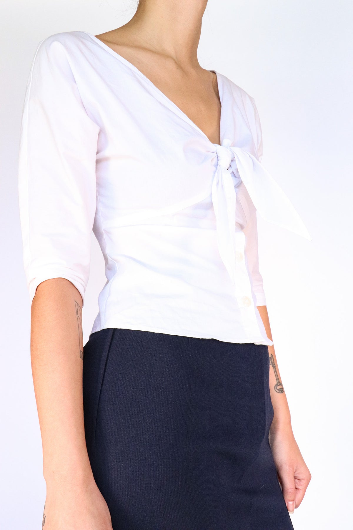 Callipygian -Tie Bust Button Down - 2