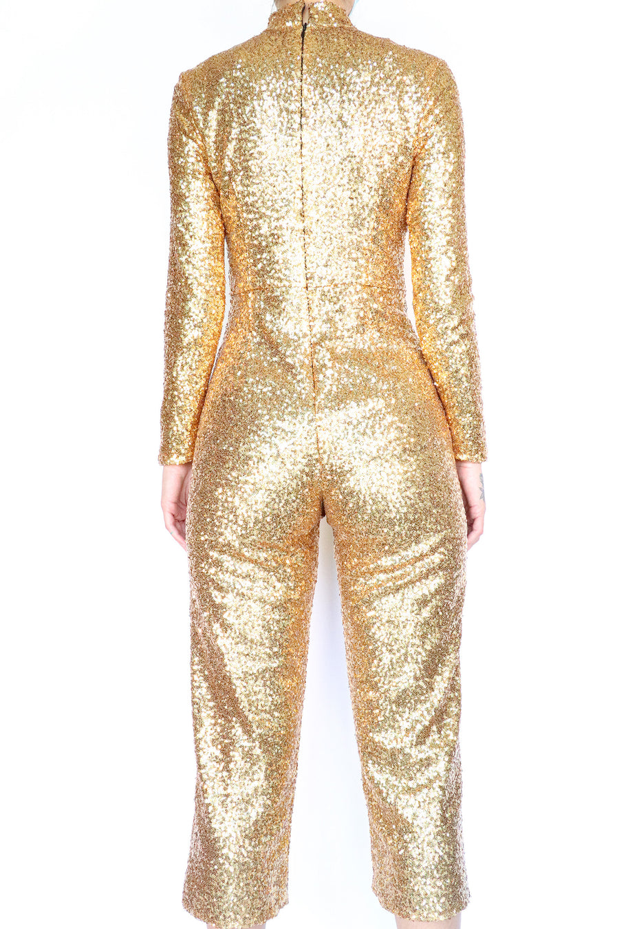 Halogen x Atlantic Pacific - Gold Sequin Jumpsuit - 2