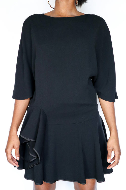 Halston Heritage - Black Ruffle Dress - S