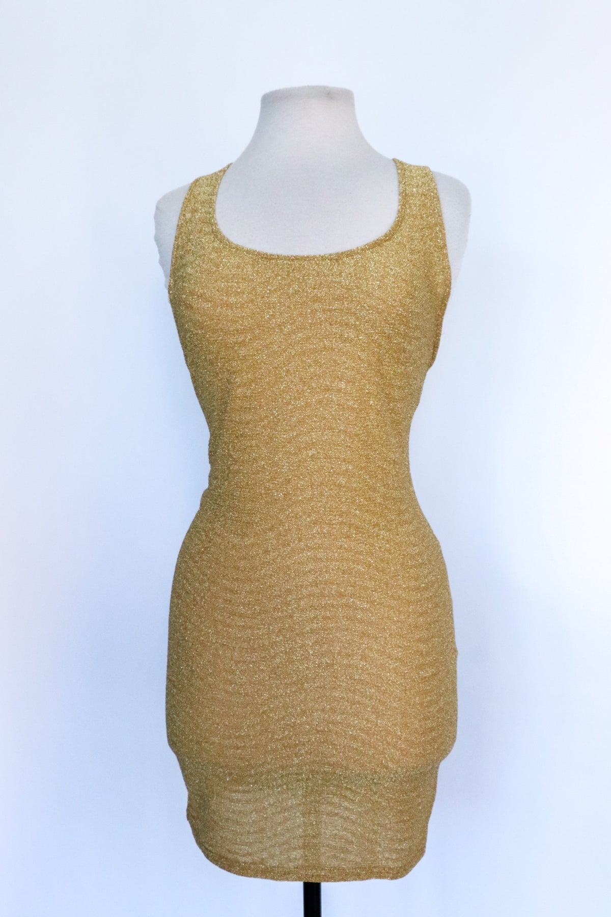 Naked Wardrobe - Gold Mini Dress