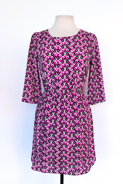 Wet Seal - Purple Geometric Dress