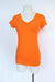 Wet Seal - Basic Tee - Orange V-Neck