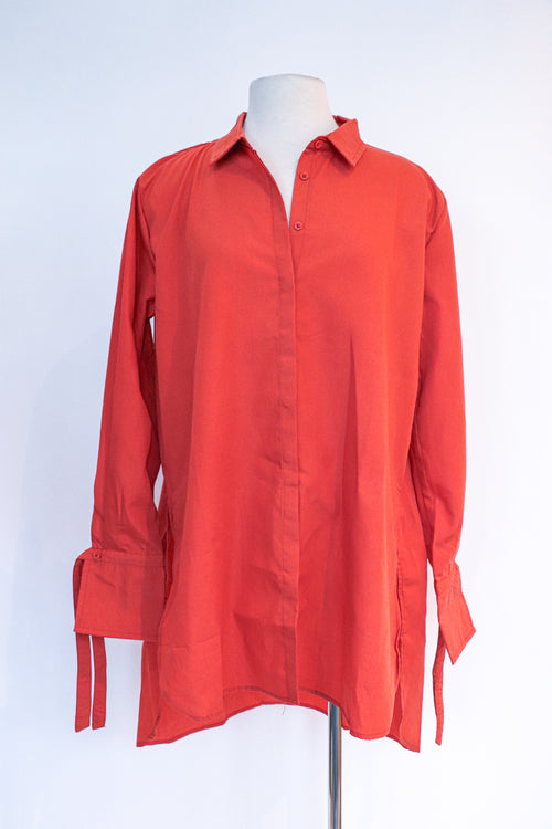 Wet Seal - Burnt Orange Button Down - L